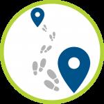 Location tracing icon